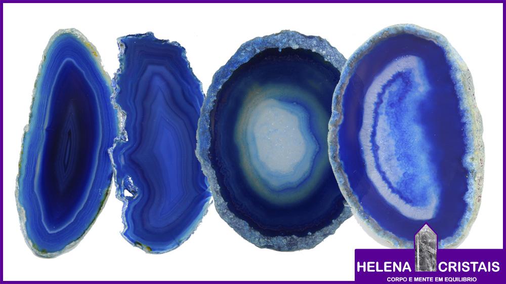 Ágata Azul e seus significados e propriedades